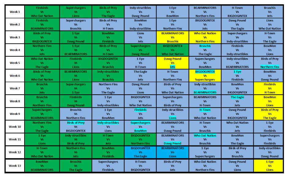 S16 Schedule 2015