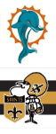 dolphins and saints