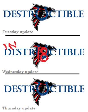 tri panel destructible