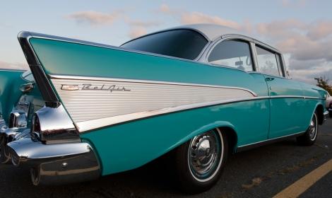 Chevy Bel Air at Classic Car meet