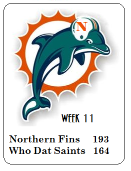 The Northern Fins are 2-2 all-time vs Saints franchises, but won the one game played vs the current incarnation